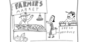 Farmers Market Cartoon