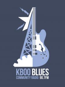KBOO blues shirt