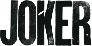 JOKER in the font used for the film