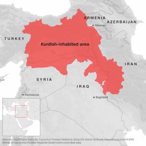 map of kurdish areas