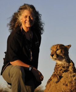Dr Marker with Cheetah