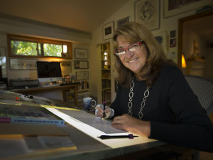 Jan Eliot is retiring her daily newspaper comic Stone Soup strip after 20 years.  In 2006, she spoke with Words and Pictures hosts S.W. Conser and Bill Dodge at the KBOO studios.