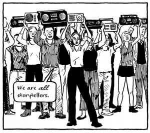 Comics artist and teacher Jessica Abel visits Portland in 2006 with her graphic novel La Perdida and talks with S.W. Conser and Bill Dodge on Words and Pictures on KBOO Radio