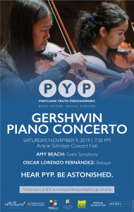 Portland Youth Philharmonic in concert Saturday, 11/9/19