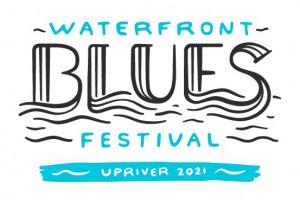 "2021 Waterfront Blues Festival ""Upriver"" logo"