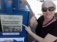 Claudia Riedener with Redefine Tacoma - happy headlines